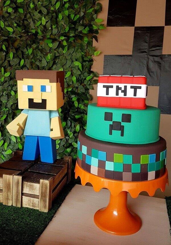 festa minecraft bolo 3