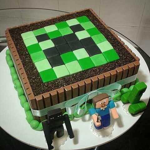 festa minecraft bolo 6
