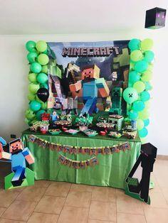 festa minecraft decoracao 3