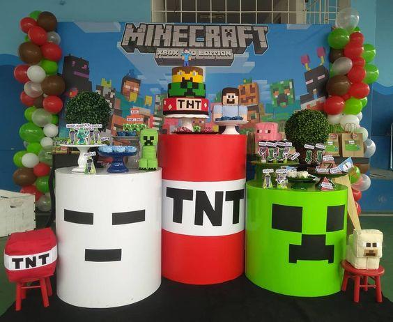 festa minecraft decoracao 6