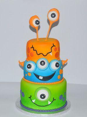 festa monstrinhos bolo