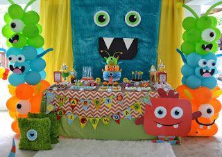 festa monstrinhos decoracao painel