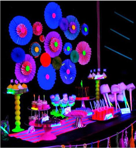 festa neon decoracao