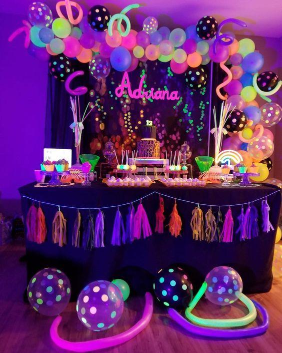 festa neon ideias criativas 4
