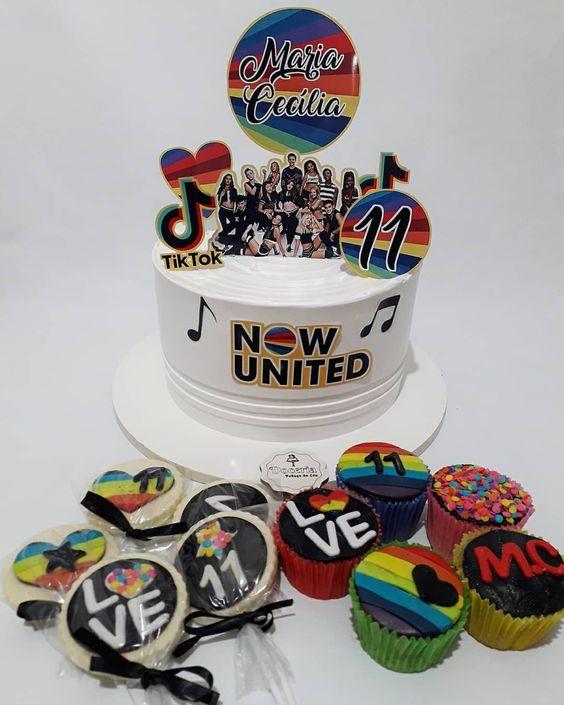 festa now united bolo ideias