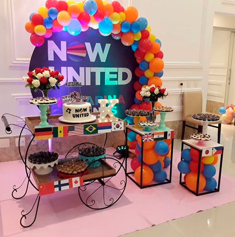 festa now united decoracao