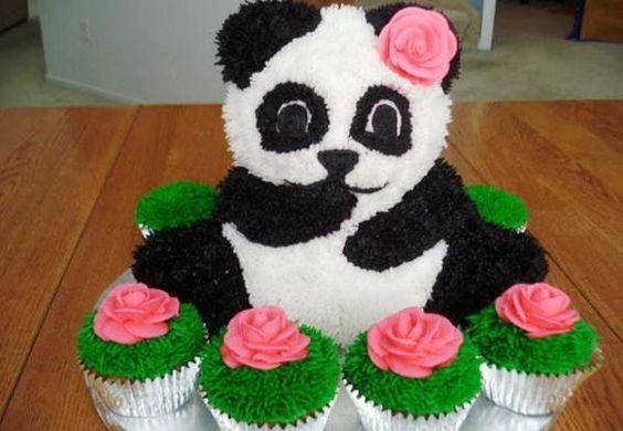 festa panda rosa docinhos cupcakes