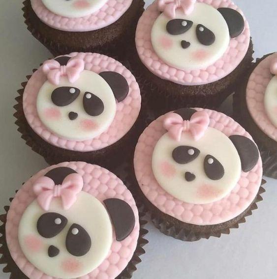 festa panda rosa docinhos