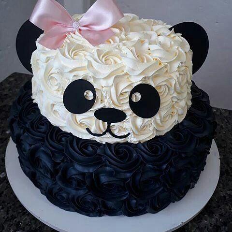 festa panda rosa ideias bolo