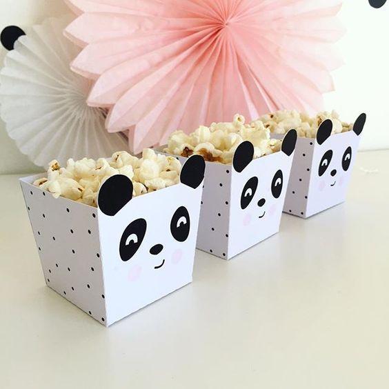 festa panda rosa ideias