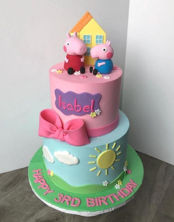festa peppa pig bolo decorado