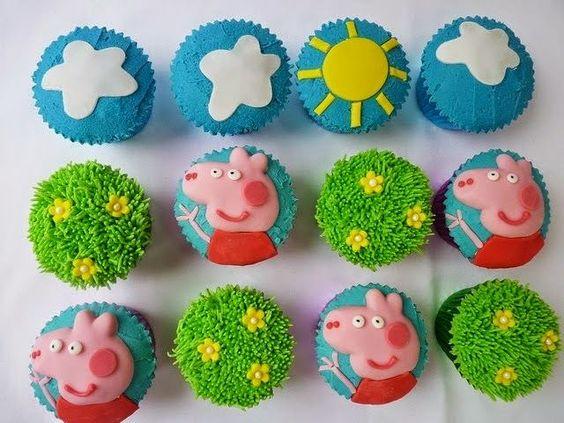 festa peppa pig docinhos cupcakes