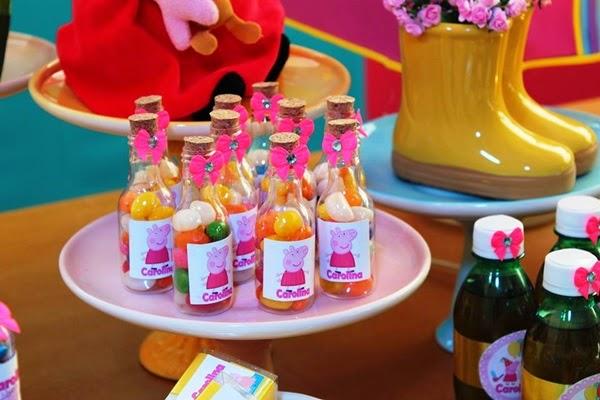 festa peppa pig docinhos garrafa