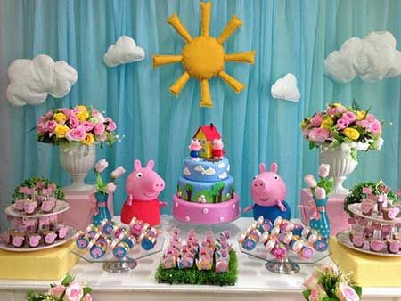 festa peppa pig painel simples
