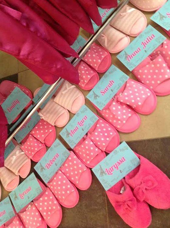 festa pijama lembrancinha chaveiro 2