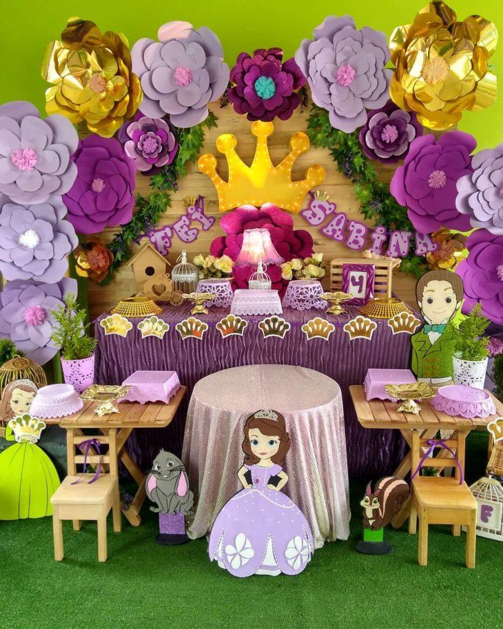 festa princesa sofia 1 ano decoracao
