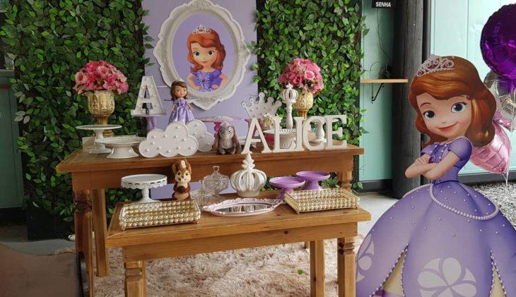 festa princesa sofia 1 ano painel