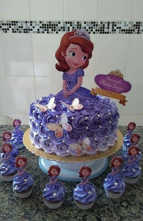 festa princesa sofia bolo decorado