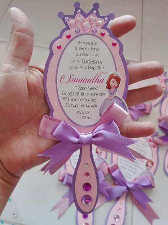 festa princesa sofia convite espelho