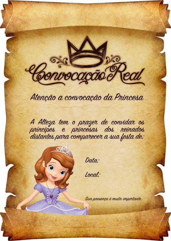 festa princesa sofia convite