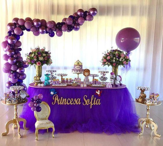 festa princesa sofia decoracao baloes