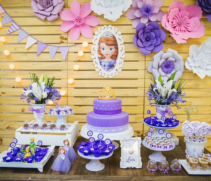 festa princesa sofia decoracao flores