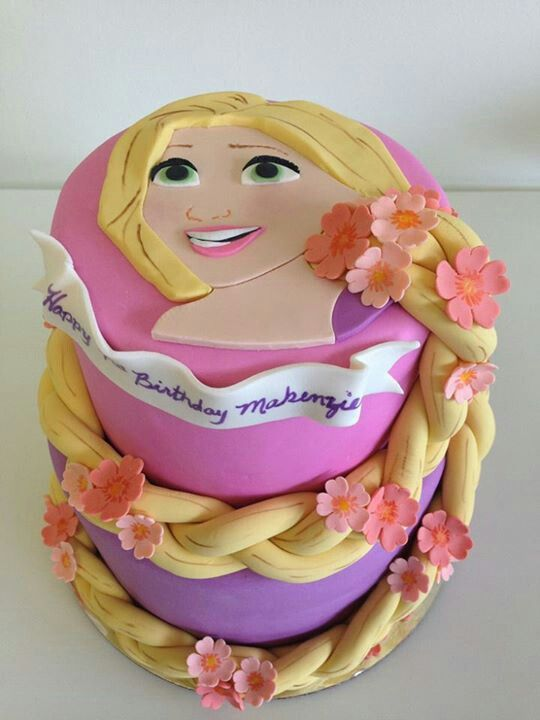 festa rapunzel enrolados bolo 1