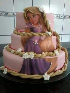 festa rapunzel enrolados bolo 2