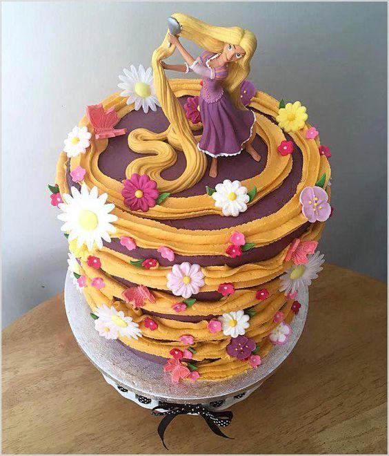festa rapunzel enrolados bolo ideias