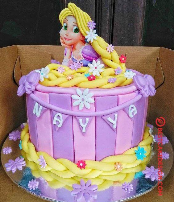 festa rapunzel enrolados bolo