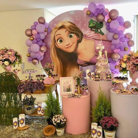festa rapunzel enrolados decoracao 1