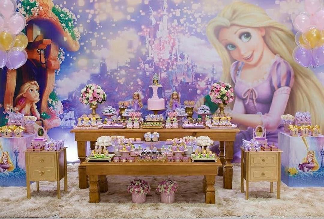 festa rapunzel enrolados decoracao 2