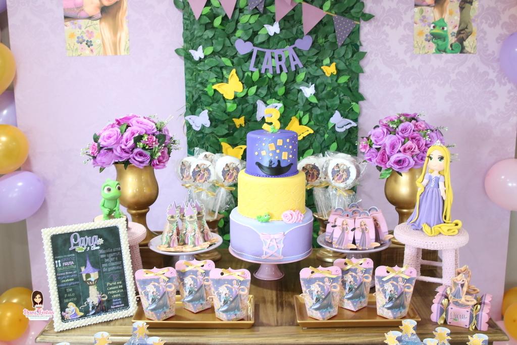 festa rapunzel enrolados decoracao 3