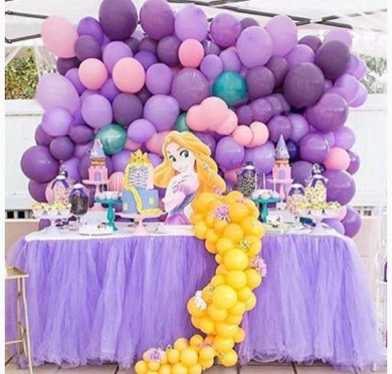 festa rapunzel enrolados decoracao 4