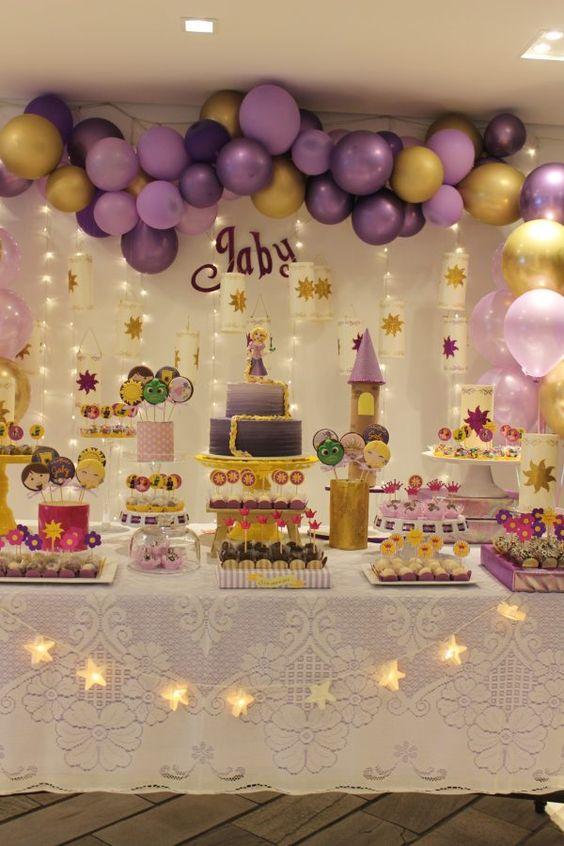 festa rapunzel enrolados decoracao