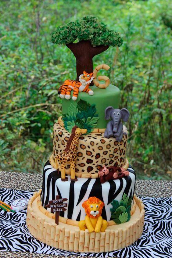 festa selva bolo adulto