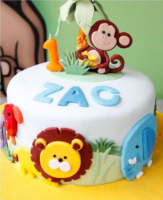 festa selva crianca bolo