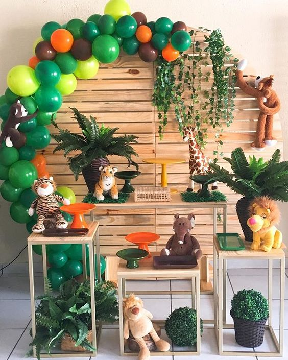 festa selva decoracao peluche