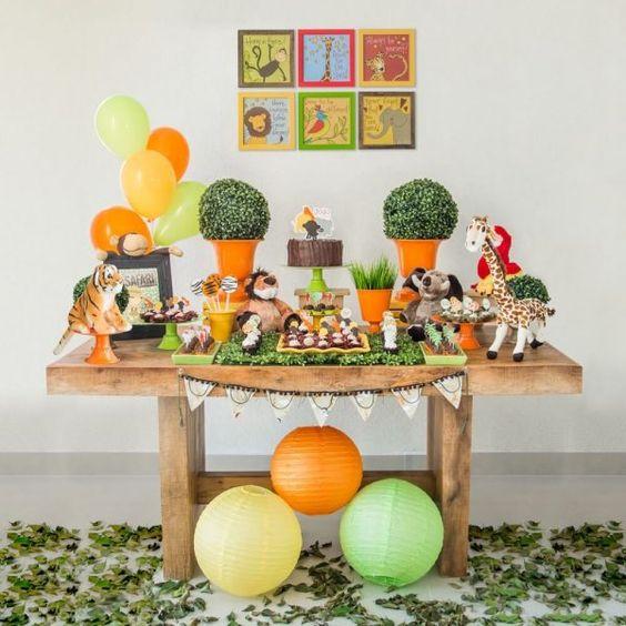 festa selva decoracao simples