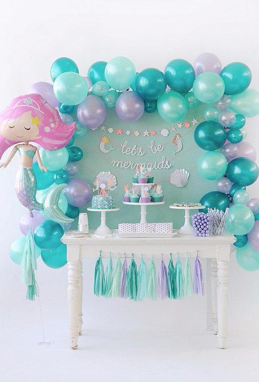 festa sereia decoracao baloes