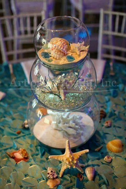 festa sereia diy aquario