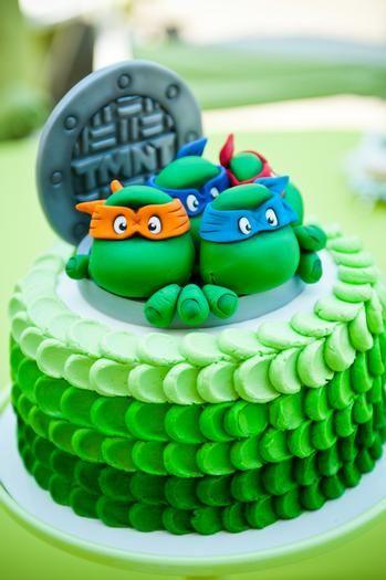 festa tartaruga ninja bolo
