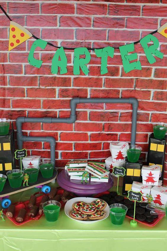 festa tartaruga ninja decoracao 3