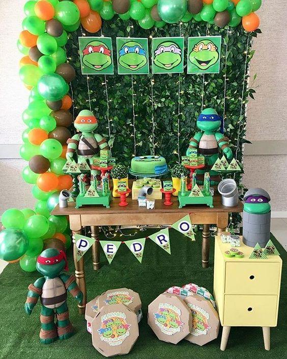 festa tartaruga ninja decoracao