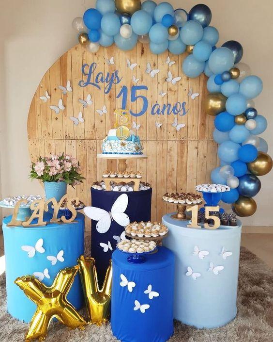 festa tema borboleta azul 1