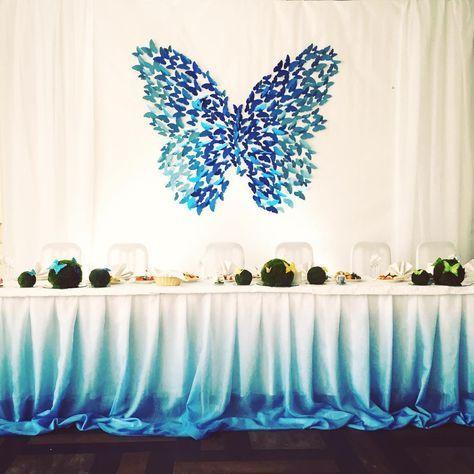 festa tema borboleta azul 3