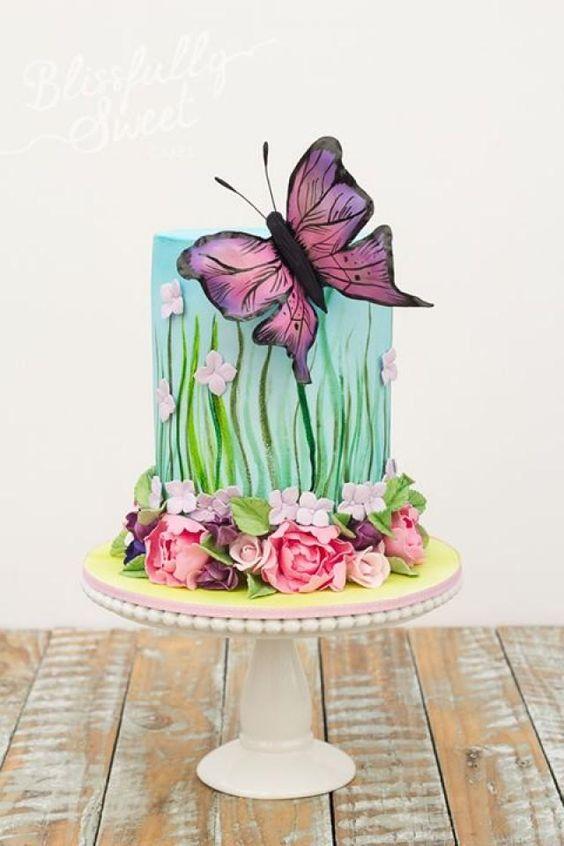 festa tema borboleta bolo 4