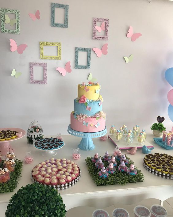 festa tema borboleta rosa 2