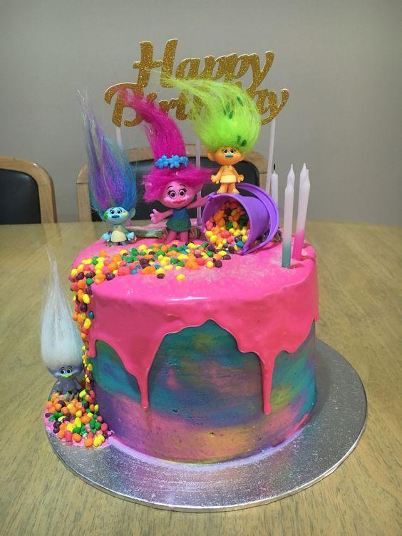 festa trolls bolo 2