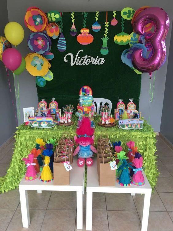 festa trolls decoracao 2